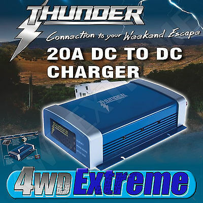 AU220 • Buy NEW Thunder 20A DC To DC MPPT 300w Smart Battery Charger Solar TDR02020 DUAL
