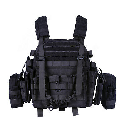 $79.99 • Buy Military Carrier Outdoor Tactical Sports MOLLE Gear Field Swat Adjustable Vest 0