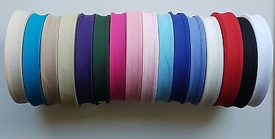 Cotton Bias Binding Tape 25mm (1 Inch) - Various Colours - 1, 5 Or 10 Metre • 1.79£