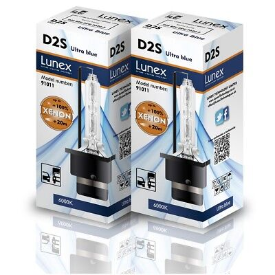 $31.37 • Buy 2 X D2S Genuine LUNEX XENON BULBS REPLACEMENT FOR PHILIPS , GE OR OSRAM  - 6000K