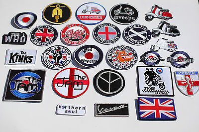 £2 • Buy Scooter Iron/Sew On Patches - 172 Different Designs - Mods - Ska - Full Colour
