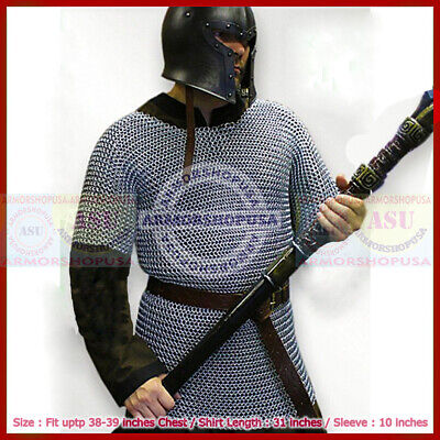 £17 • Buy Medieval Aluminium Chainmail Shirt Butted Chain Mail Armor For Role-Play Theater