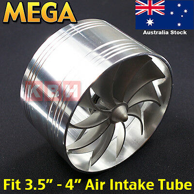 AU36.99 • Buy 88mm ~ 100mm Air Intake Fan Turbo Supercharger Turbonator Gas Fuel Saver 4 Inch