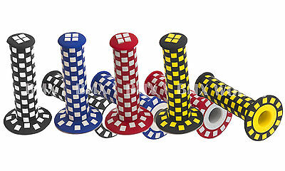 AU19.80 • Buy BMX Checker Grips Red, Blue, Black & White And Black & Yellow - Sold In Pairs