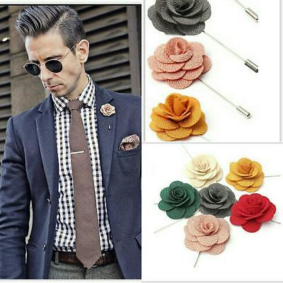 NEW Men's Corsage Boutonniere Brooch Fabric Daisy Flower Lapel Pin Wedding Suit  • 4.50£