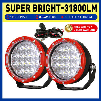 AU68.88 • Buy 2  OSRAM 5inch 31800LM LED Driving Lights Spot Truck Offroad 4x4 Work Round RED