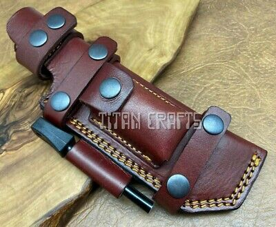 £24.99 • Buy TITANs Premium Cowhide Leather Sheath For Scout Bushcraft Camping Hunting Knives