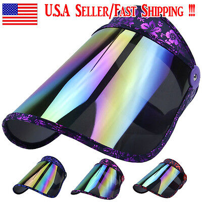 $16.99 • Buy Women Large Sun UV Protection Cap Cover Hat Wide Brim Golf Tennis Cycle Outdoor