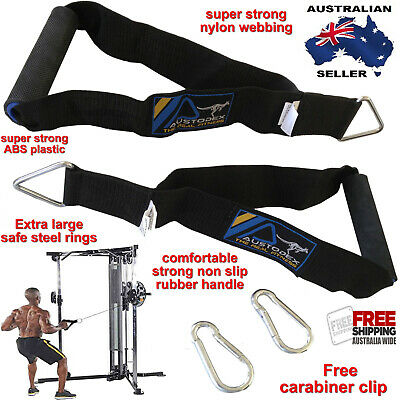 AU24.99 • Buy Austodex Tricep Bicep Rope Cable Attachment Bar Dip Resistance Band Exercise Gym
