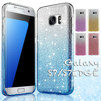 $ CDN7.83 • Buy Bling Glitter Silicone TPU Rugged Case Cover For Samsung Galaxy S7 Edge S8 Plus