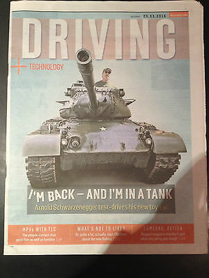 Arnold Schwarzenegger Photo Cover Interview 2014 Driving Supplement • 6.99£