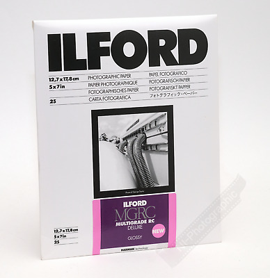 Ilford Multigrade 5 X7  12.7x17.8cm Photo Darkroom Paper 25 Sheets Glossy NEW • 12.99£