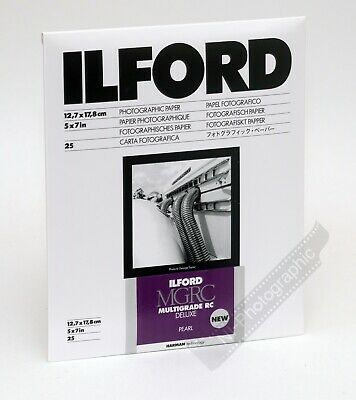 Ilford Multigrade 5 X7  12.7x17.8cm B&W Photo Darkroom Paper 25 Sheets Pearl NEW • 12.99£