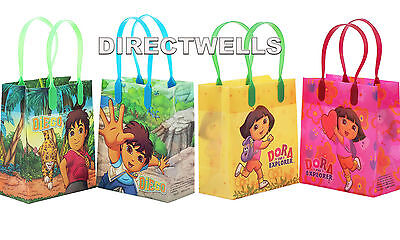 Dora And Diego Authentic Licensed Reusable Small Party Favor Goodie 12 Bags  • 10.75£