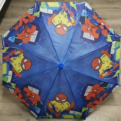 AU15.99 • Buy Marvel Spiderman Boys Kids Umbrella Kids Gift With Whistle