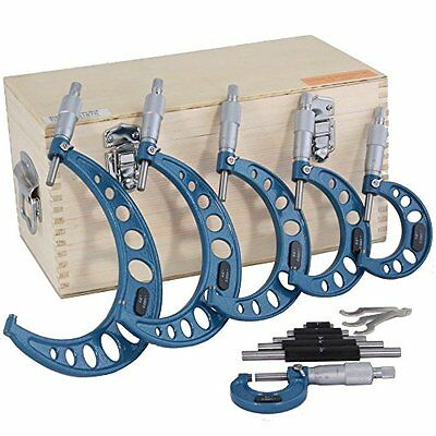 $178.95 • Buy OUTSIDE MICROMETER 0-6  Machinist Tool Set Round Frame Quality Control Wood Box