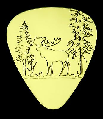 $ CDN20.76 • Buy MOOSE- Solid Brass Guitar Pick, Acoustic, Electric, Bass