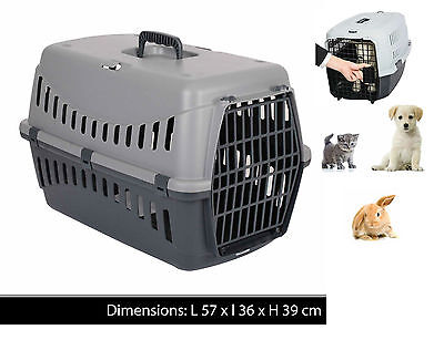 Large Pet Carrier Carry Basket For Puppy Dog Cat Kitten Rabbit Travel Cage Crate • 14.95£