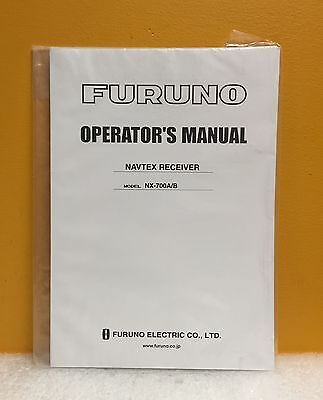 Furno NX-700A/B Navtex Receiver Operator's Manual, New • 14.30£