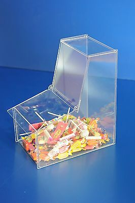 Pick N Mix Sweet Acrylic Dispenser Display Stacking Bin Holder • 36.13£