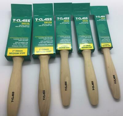 £20.28 • Buy Harris T-Class Delta 5 Paint Brush Set 1×1  2×1.5  2×2  VERY HIGH QUALITY PACK