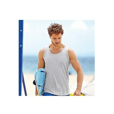 £3.99 • Buy Men's FITTED FRUIT OF THE LOOM VESTS COTTON(61098) Size S-2XL