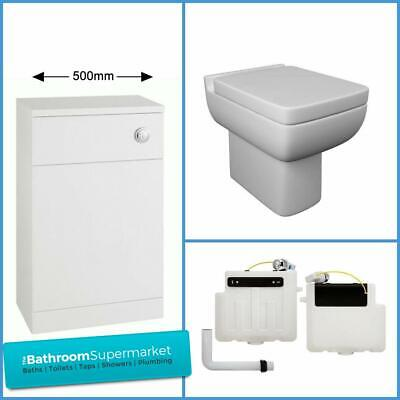 £164.95 • Buy Toilet Inc Soft Close Seat Short Projection Back To Wall Toilet Compact WC
