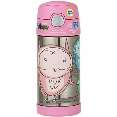 AU24.99 • Buy 100% Genuine! THERMOS Funtainer 355ml Vacuum Insulated Beverage Bottle Owl!