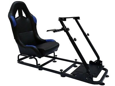 Racing Game Racer Simulator Cockpit Simulation Seat Chair Race Gaming PS4 Xbox • 259£