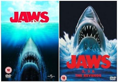 Jaws 1 2 3 4  (4 Disc)  Dvd New/sealed Fast Free Postage • 19.95£
