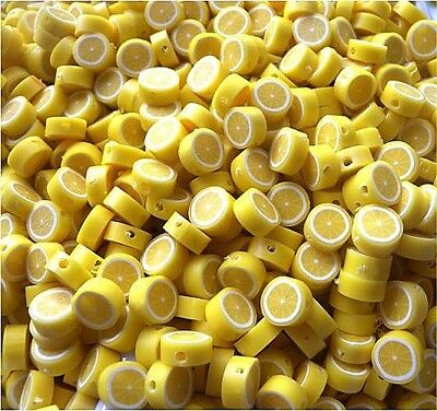 £3.99 • Buy 🍋🍋 Limited Quantity Highly In Demand Lemon Beads 10mm Polymer Clay 🍋🍋