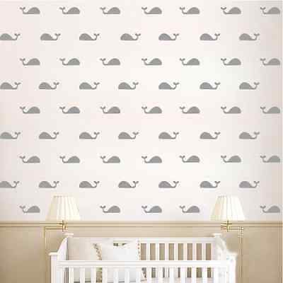 Whale Confetti Wall Stickers, Art, Decal, Bedroom, Nautical, Fashion, Gold, Sea • 5.99£