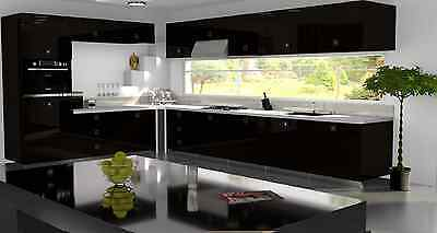£3.50 • Buy Black Gloss Replacement Acrylic Kitchen Doors Drawers Fronts