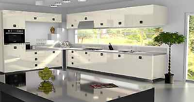 £3.50 • Buy Cream Gloss Replacement Acrylic Kitchen Doors Drawers Fronts