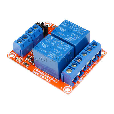 AU2.42 • Buy 5V 2 Channel Relay Module With Optocoupler Support High And Low Level Trigger US