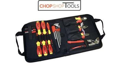 Wiha Electrician 12pc Insulated VDE Tool Kit-Screwdrivers/Pliers/Cutters 38528 • 130.99£