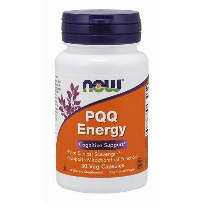 $ CDN22.60 • Buy NOW Foods PQQ Energy 30 VCaps, Cognitive Support W/ Acetyl-L-Carnitine + CoQ 10