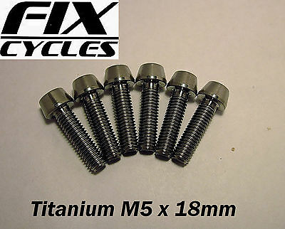 Titanium Ti M5 X 18 Mm Taper Head Bolt Screw With Allen Key Head - LIGHT • 4.45£