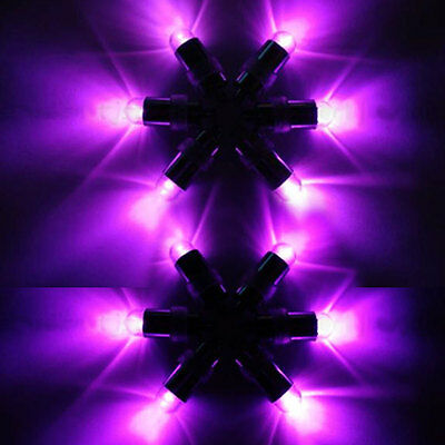 Waterproof Mini Purple Light LED Fish Bowls Balloon For Wedding Party Decoration • 5.99£