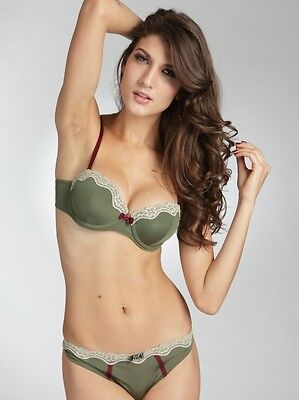 AU18.19 • Buy E Et D 048W Lace Feat. Balconette Bra Green Size 8 10 12 14 16 B C D DD E F New