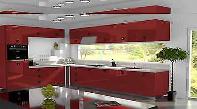 £3.50 • Buy Red Gloss Replacement Acrylic Kitchen Doors Drawers Fronts