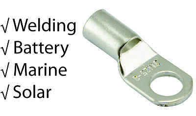 $ CDN89.97 • Buy Pack Of 100 - Cable Lugs - Tinned Copper For BATTERY, WELDING, MARINE, SOLAR