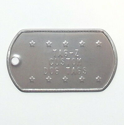 $5 • Buy 2 Military Dog Tags Custom Embossed - GI ID Tags - Personalized Tag Replacement