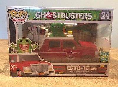SDCC 2016 Exclusive Funko Pop Rides Ghostbusters Red Ecto-1 With Slimer! • 51.57£