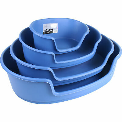 Strong Plastic Dog Bed Pet Cat Waterproof Basket Puppy Sleeper Animal Heavy Duty • 14.99£