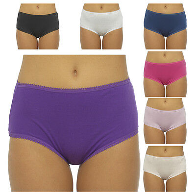 £8.99 • Buy New 5 Pack Ladies Womens Cotton Midi Briefs Pants Knickers Underwear Size 12-20