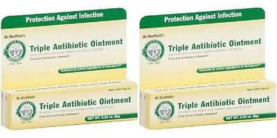 2 - Dr Sheffield's Triple Antibiotic Ointment  Neosporin First Aid 0.33oz • 5.96£