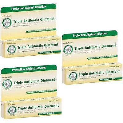 3 - Dr Sheffield's Triple Antibiotic Ointment  Neosporin First Aid 0.33oz • 7.46£