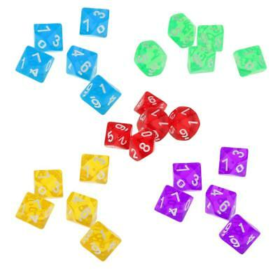 AU7.97 • Buy Acrylic Multi Sided Dice Set Of 5 D10   TRPG Games Roleplay