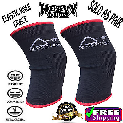 AU9.99 • Buy Elastic Knee Brace Strap Guard Support Sleeve Leg Muscles Protection GYM Sport